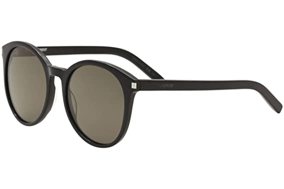 2f93b6837e Image Unavailable. Image not available for. Color  Saint Laurent CLASSIC 6  Sunglasses 002 Black   Smoke Lens ...