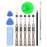 Repair Tool Kit, E-Durable Pentalobe Phillips Flat Screwdriver Set, Screw Bit Driver (12 Pcs Set)