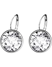 Xuping Sparkle Valentine's Day Hot Sale Luxury Platinum Color Plated Crystals from Swarovski Hoop Earrings Women Girl Lady Wedding Prime Day Jewelry
