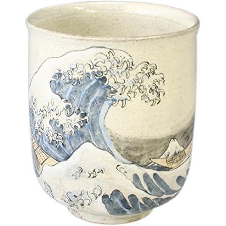 Kiyomizu Yaki Namiura Fuji 3 1inch Japanese Teacup White Ceramic