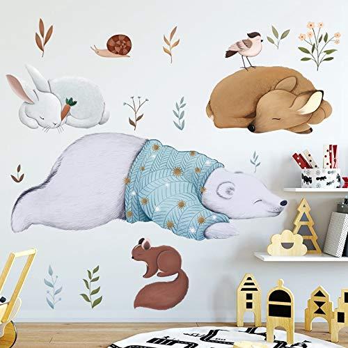 Oso polar conejo ardilla animales pegatinas de pared dormitorio ...