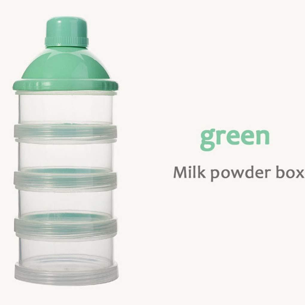 Uokoki Port/átil para beb/é beb/é Leche en Polvo el Caso de Comida Snacks Dispensador Caramelo contenedor de Almacenamiento Pot Box 3 Capas