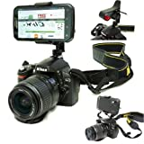 ChargerCity Periscope DSLR Camera Tripod Hot Shoe Flash Mount with Universal Adapter for Smartphones Upto 3.5-Inch Wide