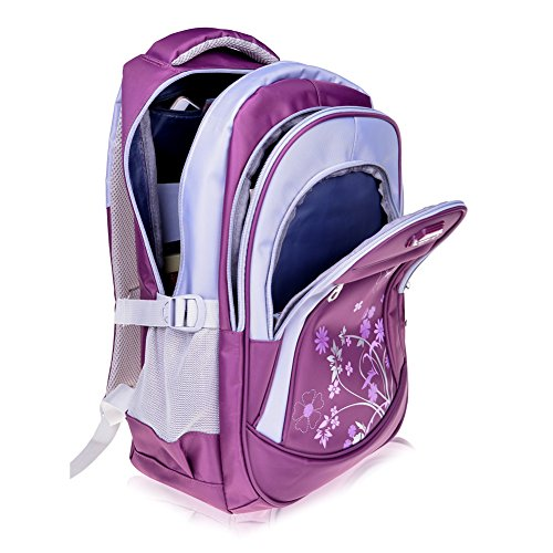 Vbiger Girl's & Boy's Backpack for Middle School Cute Bookbag Outdoor Daypack (Purple 1) by VBIGER (Image #1)