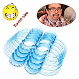 CAPRICOS: 10 Pcs 3 Sizes CType Mouth Opener Cheek RetractorWhiteningClear 2 colors: Clear S