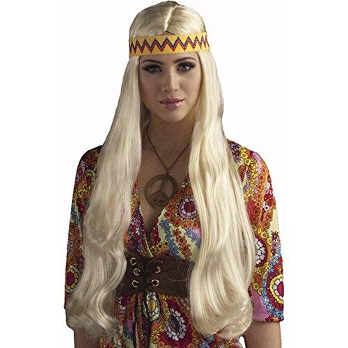 Blonde Hippie Chick Wig Headband