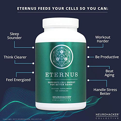 51C08v%2BuOBL - Eternus - Cell Energy for Better Aging | Comprehensive Cell Food Supplement | Niagen NAD+ Booster (160 Capsules)