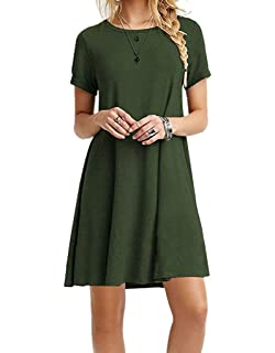 c4124f0c Casual T Shirt Dress for Women Flowy Tunic Dress with Pockets Reg ...