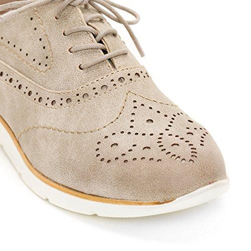 Zapatos acordonados trabajada Beige Zapatos Scarpe Planos amp;Scarpe con by OBSEL Punta wqIStt