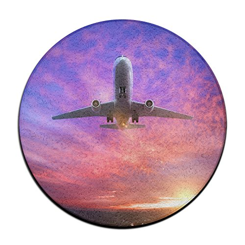 Airplanes Taking Off Round Carpet Area Floor Rug Entrance Entry Way Front Door Mat Ground 23.6 Inch Rugs For Decor Decorative Men Women Office by Homedecor