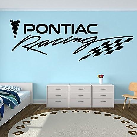 Amazoncom Pontiac Racing Wall Decals Vinyl Sticker Emblem Logo - Custom vinyl wall decals for garage