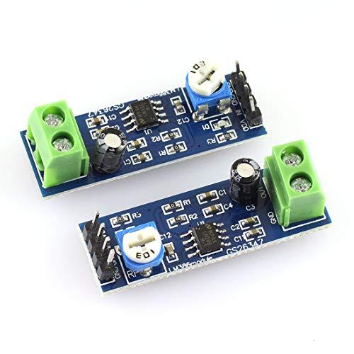 DZS Elec 2pcs LM386 Audio Amplifier Module 200 Times Multiplier Speaker Wire Holder 5V-12V Input 10K Adjustable Resistance DIY Electronics for Arduino EK1236 (Best Diy Audio Amplifier)