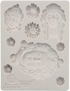 """Prima Marketing 966584 Finnabair Decor Moulds 3.5""""X4.5""""-Art Nouveau"""