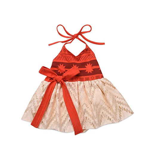 AmzBarley Moana Costume Girls Dress Bowknot V Neck for sale  Delivered anywhere in Canada