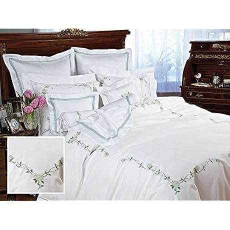 Trousseau Luxury Bedding Sheet Sets King 100 Egyptian Cotton Sateen 1 Flat 1 Fitted 2 Std Shams Green