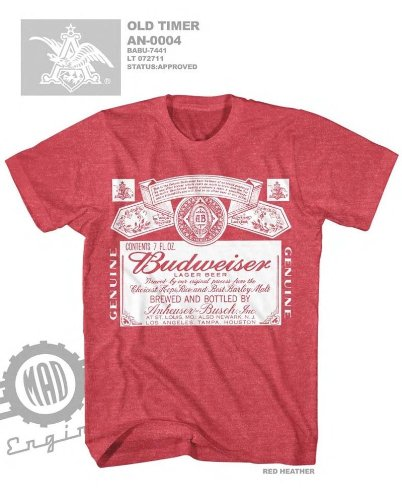 Budweiser Heather Licensed T Shirt AN0004 product image