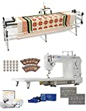 Juki TL2000Qi 9'' Long Arm Machine, Grace New & Improved GQ 10' Quilting Frame , SureStitch Regulator, Pattern Templates, 100 Needles, 20 Bobbins, Extension Table & QuiltCAD Pattern Design Software