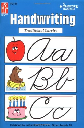 Handwriting Traditional Cursive Homework Booklet (Homework Booklets)