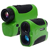 Corprit Portable Laser Rangefinder Telescope Range Finder w/ Speed Measurement for Golf Camp Hunting Outdoor Sports and Engineering