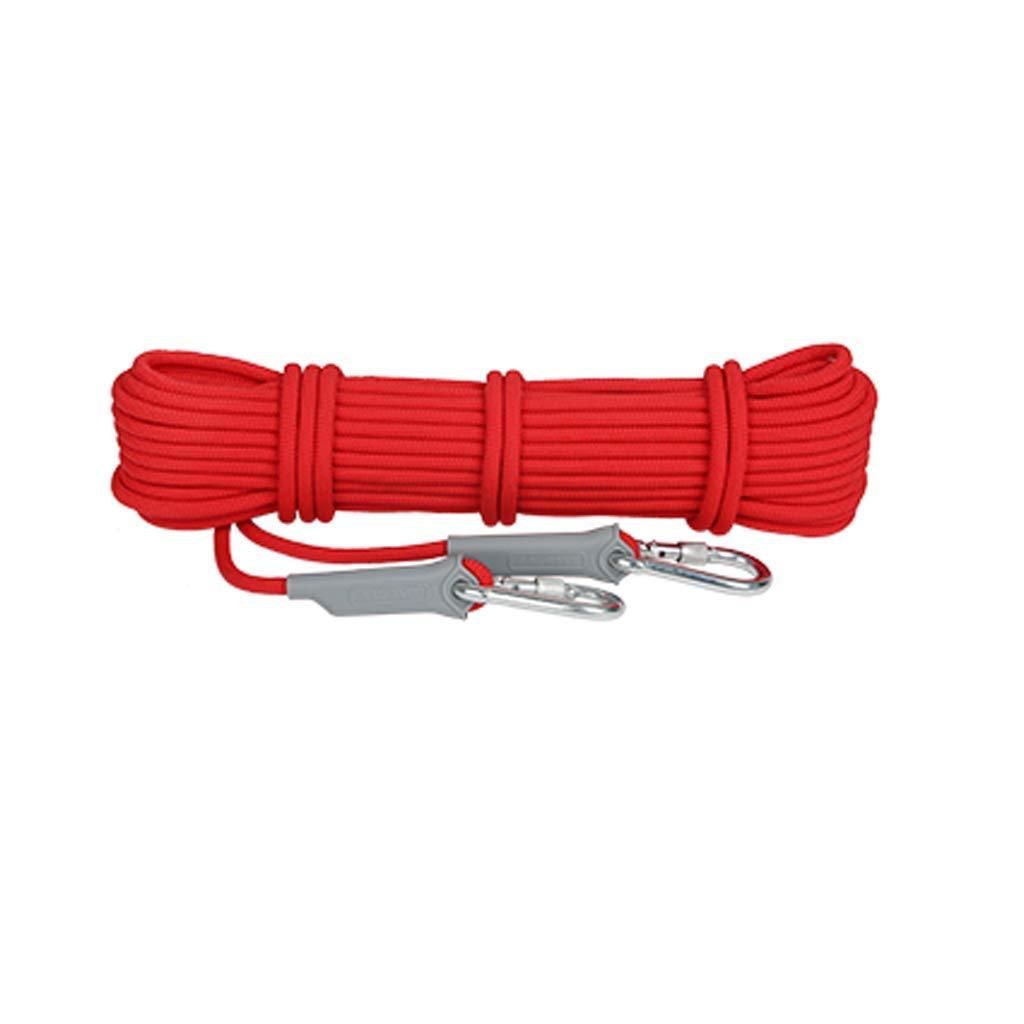- SCJ Corde d'escalade, Corde de sécurité à séchage Rapide pour Montage en Montagne, diamètre Ultra-léger, diamètre 8 mm, pour Descente en Rappel, équipement de Survie, Sauvetage 40m