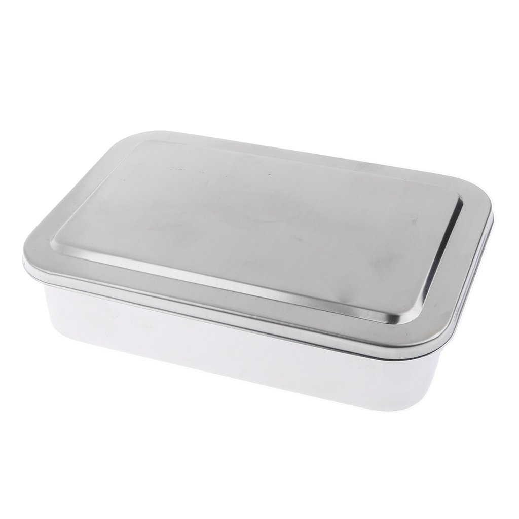 Prettyia - Stainless Steel Surgery Instrument Box - Dentistry Tools Box Disinfection Tray 6''