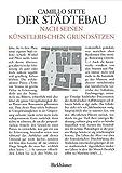 Der Städtebau nach seinen künstlerischen Grundsätzen (German Edition)