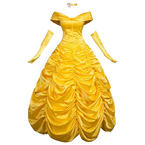 CosFantasy Princess Belle Cosplay Costume Ball Gown Fancy
