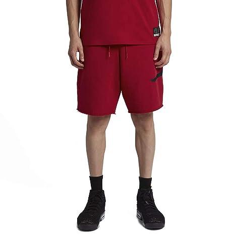 5b365f91a4 Nike Jumpman FLC, Pantaloncini Uomo, Gym Red/Black, S: Amazon.it ...