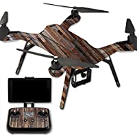MightySkins Protective Vinyl Skin Decal for 3DR Solo Drone Quadcopter wrap cover sticker skins Woody