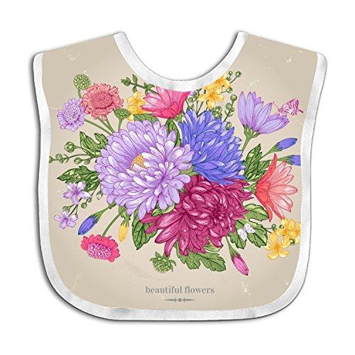 - Greeting CARDS And Bouquets Teething Bib Waterproof Sleeved Bibs For Babies Toddlers