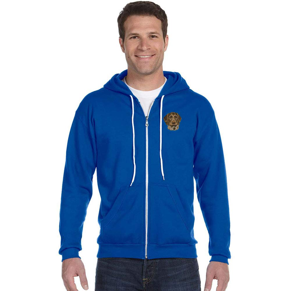All Breeds Cherrybrook Royal Blue Breed Embroidered Anvil Full Zip Menss Hoodie