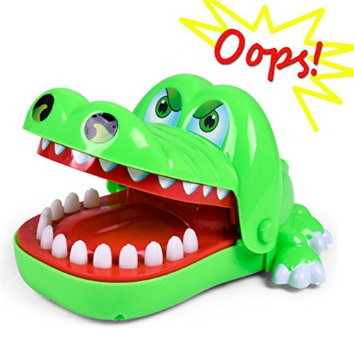 Oun Nana Crocodile Dentist - Dinosaur Biting Finger Game Funny Toys, Green (Alligator Bite)