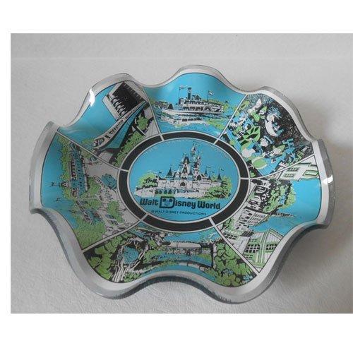 Vintage Walt Disney World Magic Kingdom Souvenir Glass Candy Dish Bowl (Mickey Mouse Candy Dish)
