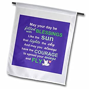 """3dRose fl_58345_1 Irish Blessing Rhyme for Courage Bravery and Independence Garden Flag, 12 by 18"""""""