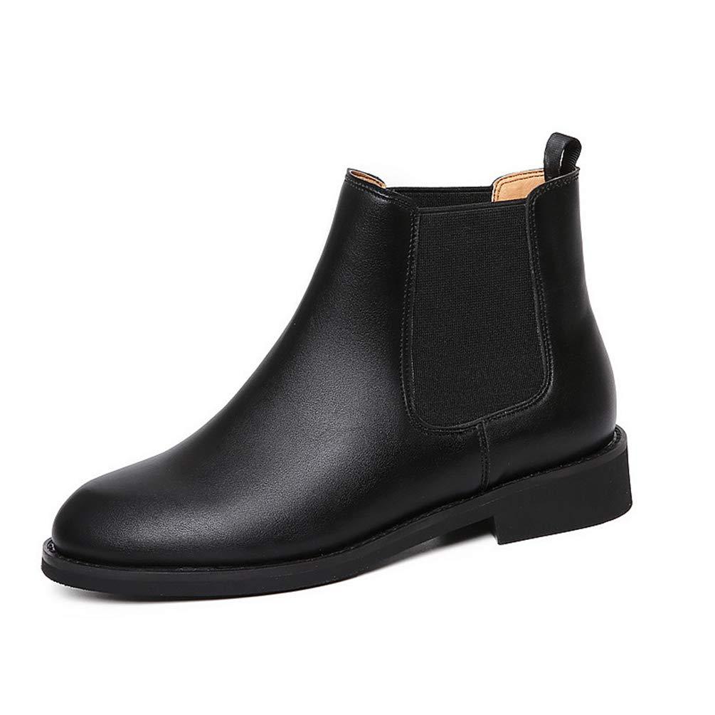 Frauen Warme Pelz Plüsch Plüsch Plüsch Stiefelies Schuhe Herbst Winter Slip-on Mikrofaser Ankle Stiefel High Top Chelsea Stiefel 013f37