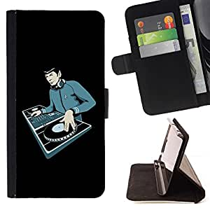 For Sony Xperia Z3 D6603 Space Guy DJ Beautiful Print Wallet Leather Case Cover With Credit Card Slots And Stand Function