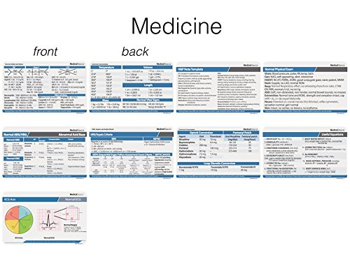 Scrubnotes - Medical Reference ID Badge Cards - 13 Card Set with Pocket Medical Abbreviation Booklet for Doctors and Nurses by Medical Basics (Image #2)