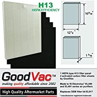 1 Hepa H13 filter and 4 carbon filters to fit Electrolux EL490 and EL491 air purifiers, replaces OEM filter kit EL017. Quality replacement filters by Goodvac (1)