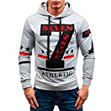 iOPQO Sweaters for Men, Autumn Winter Casual Spices Printing Long Sleeve Blouse