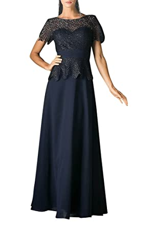 La Mariee Stunning Lace Evening Prom Dresses With Appliques 2016 New-2-Dark Navy
