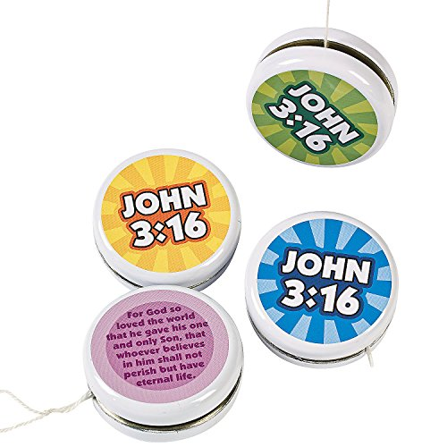 Fun Express - John 3:16 YO-yo - Toys - Value Toys - Yo - Yos - 12 Pieces