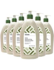 Amazon Brand - Solimo Daily Moisturizing Oatmeal Lotion, Fragrance-free, 18 Fluid Ounce (Pack of 6)