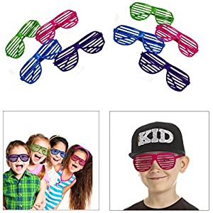 Dazzling Toys 80's 80's Slotted Toy Sunglasses Party Favors Costume - Pack of 36 - Assorted Colors