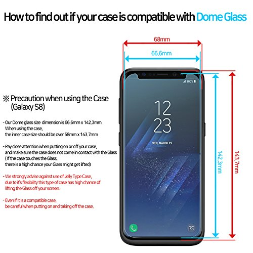 Dome Glass Galaxy S8 Screen Protector Tempered Glass