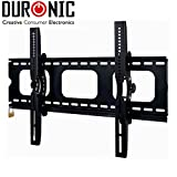 ANTI-THEFT Duronic [ TVB103M] Black Universal 3D LCD LED Plasma TV Wall Mount Bracket with Security Lock Bar | Fits: 32-65"