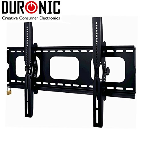 ANTI-THEFT Duronic [ TVB103M] Black Universal 3D LCD LED Plasma TV Wall Mount Bracket with Security Lock Bar | Fits: 32-65