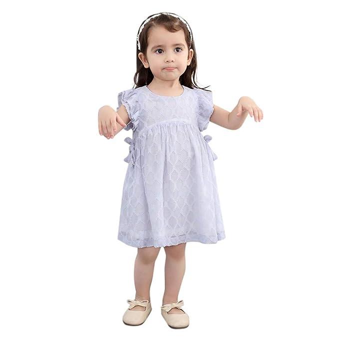 MISSWongg/_Babykleidung Kleinkind M/ädchen Kleid Langarm Prinzessin Kleider Hemdkleider Shirt Kleider Blumenblume ger/üscht Kleider M/ädchen Kleidung