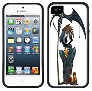 Cute Grim Reaper Goth Emo Handmade iPhone 5 5S Black Case