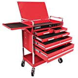 Professional 5 Drawer Service Cart w/ Locking Top