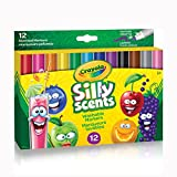 Crayola Silly Scents Wedge Tip Markers, 12 Count, School and Craft Supplies, Drawing Gift for Boys and Girls, Kids, Teens Ages  5, 6,7, 8 and Up, Holiday Toys, Stocking Stuffers, Arts and Crafts